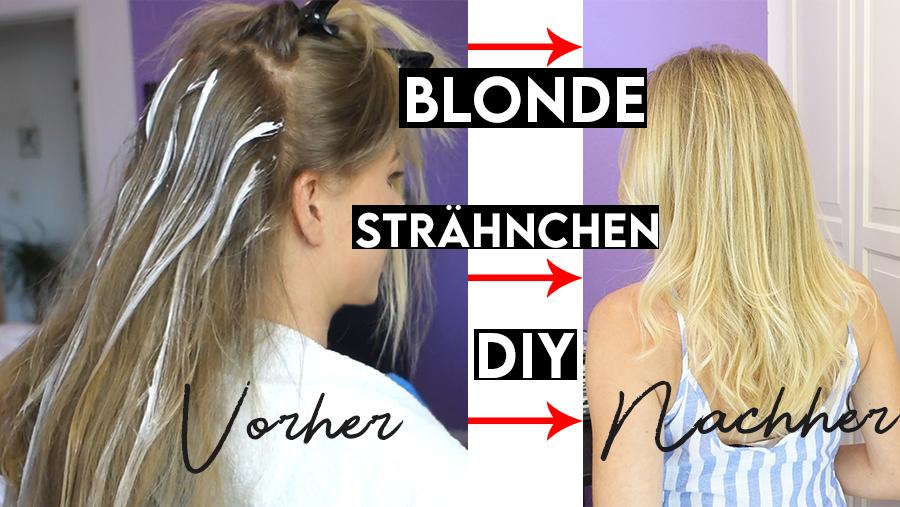 Haare machen highlights selber Strähnchen färben:
